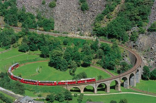 Kreisviadukt Brusio - Berninalinie