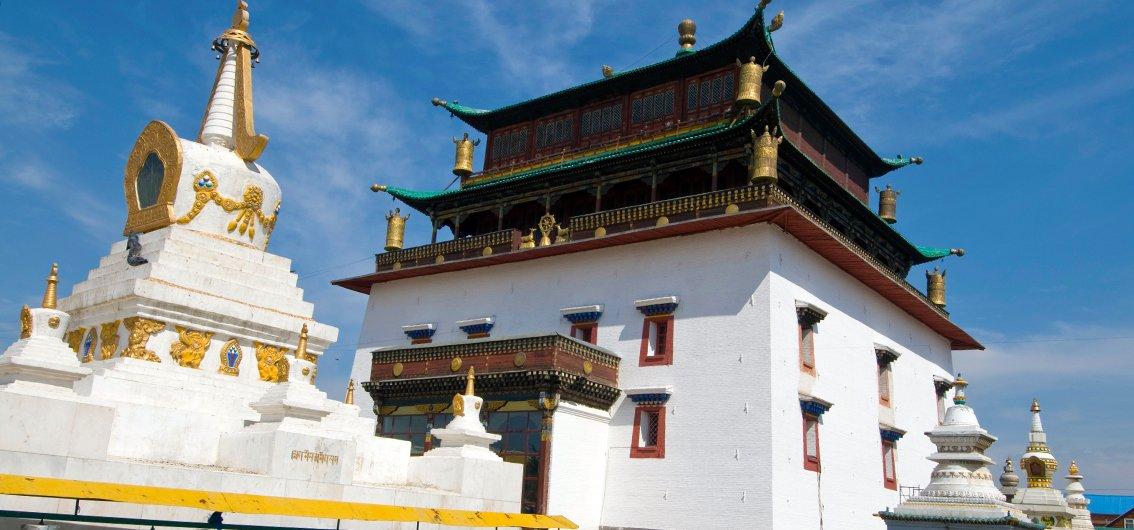 Das weltberühmte Gandan-Kloster in Ulaan Baatar