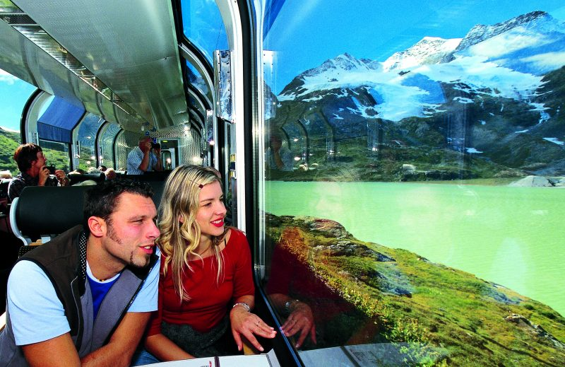 Panoramawagen des Bernina Express