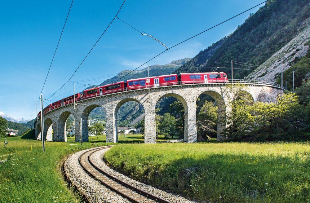 Kreisviadukt in Brusio - Berninalinie