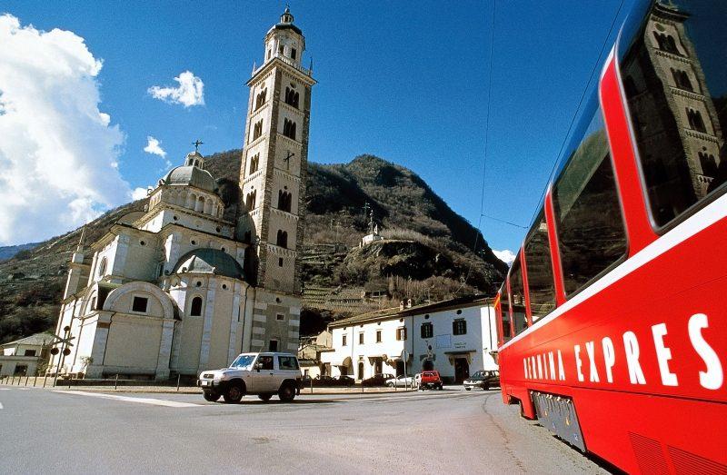 Tirano, Endpunkt der Bernina Linie