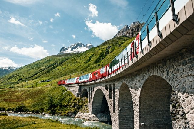Glacier Express in the lovely valley of Urseren (C)MGB