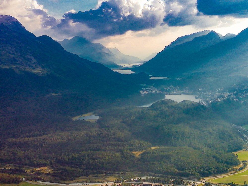 Traumhafter Ausblick auf die Oberengadiner Seen