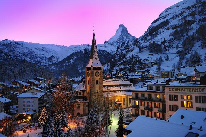 Abendstimmung in Zermatt (C)ZermattTourismus/LeanderWenger