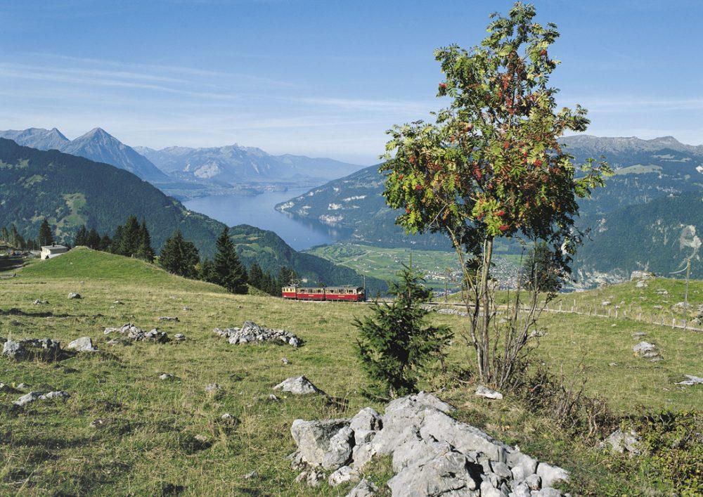 Schynige Platte Bahn hoch über dem Thunersee (C)STS