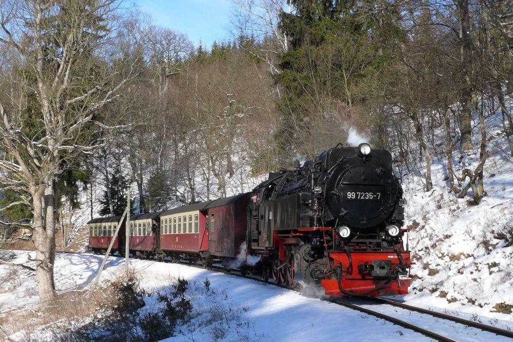 Zug vor Mägdesprung © S. Frenzel