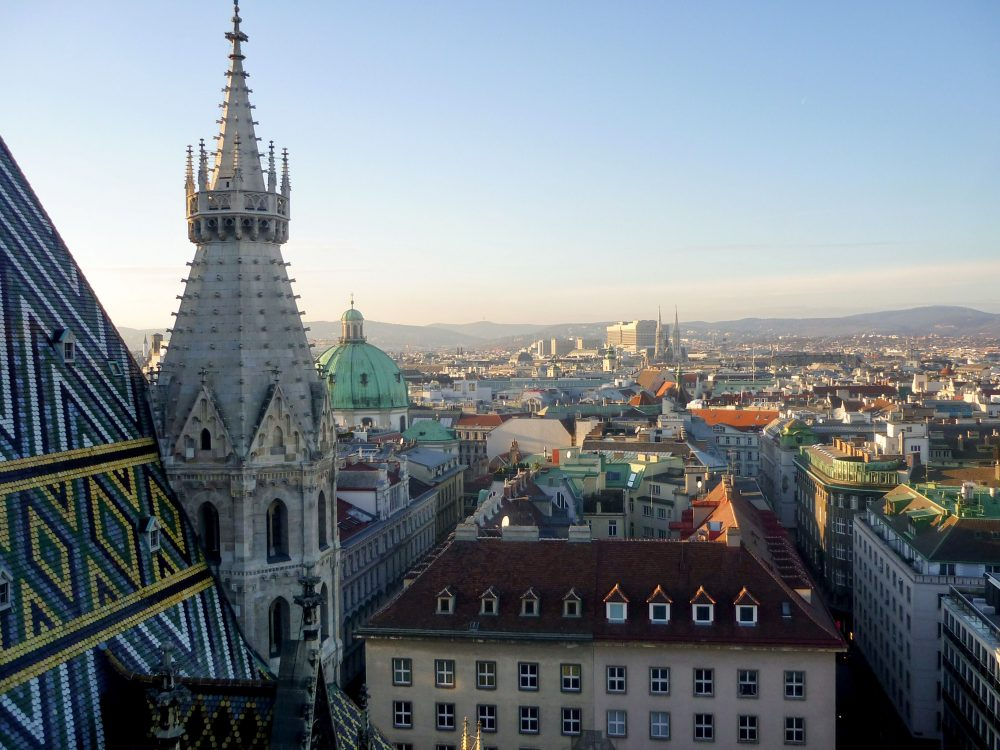 Blick vom Stephansdom über Wien © SGR
