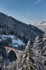 Langwieser Viadukt im Winter