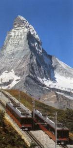 Gornergratbahn mit Matterhorn